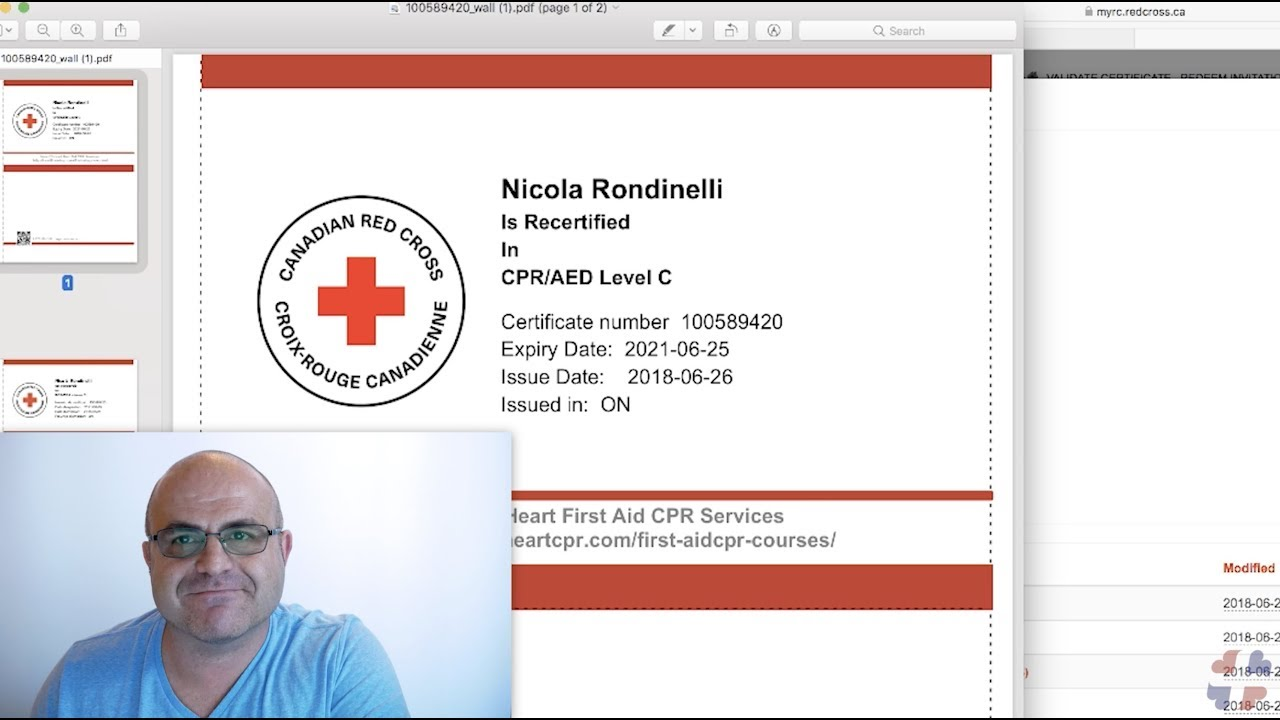 How To Access Your Canadian Red Cross Online Certificate Youtube