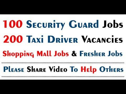 100 Security Guard Jobs and 200 Taxi Driver Jobs in Dubai 2018