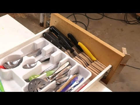 Making an in-drawer knife block