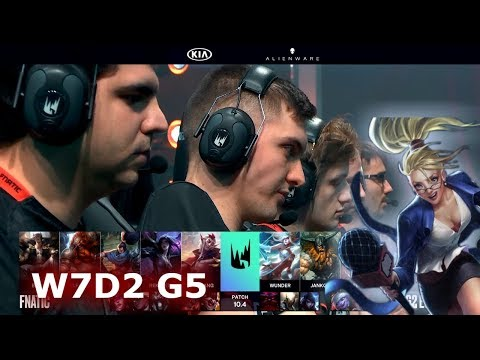 Fnatic Vs G2 Esports | Week 7 Day 2 S10 LEC Spring 2020 | FNC Vs G2 W7D2