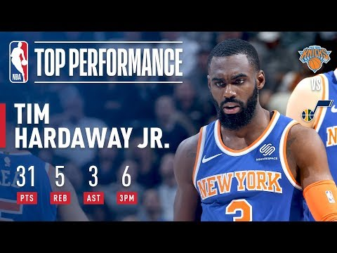 Tim Hardaway Jr. Scores 31 To Give The Knicks The Win Over The Jazz