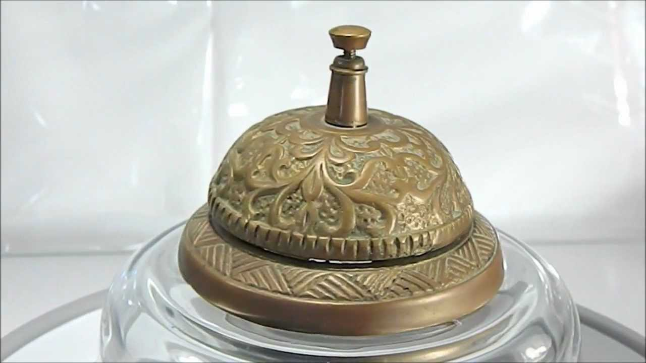 SOLID BRASS HOTEL DESK BELL  YouTube