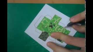 Minecraft Papercraft - how to make great quallity creeper