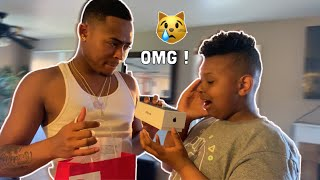 DESTROYING MY LITTLE BROTHERS TABLET & BUYING HIM A NEW IPHONE *Very Emotional*