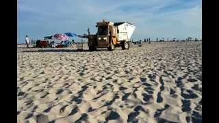 Garbage Trucks on the Beach