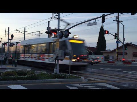 Arlington Avenue Railroad Crossing, LA Metro Light Rail Los Angeles