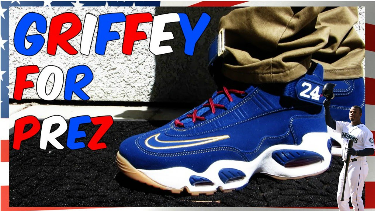 Nike Men's Air Griffey Max 1 (Varsity Royal Blue White Volt Black)