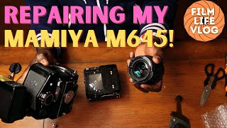Attempting to repair my (for parts) Mamiya M645 1000s film camera