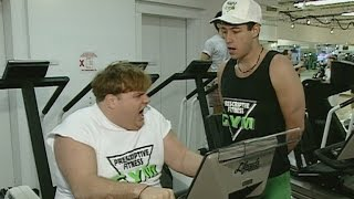 FLASHBACK: Working Out with Adam Sandler, Chris Farley, Kevin Nealon & Mike Myers in '93