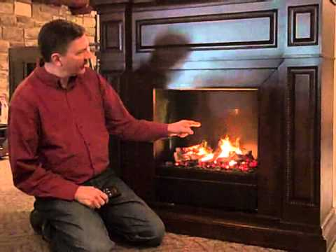 Electric Fireplace with Amazing New Smoke & Flame Illusion - YouTube