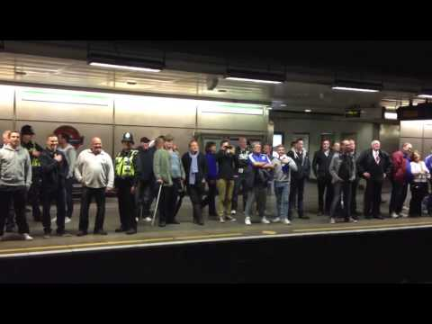 Yids at the tube station after Chelsea-Spurs game