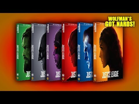 Justice League (2017) 4K Ultra HD Blu-ray Character Covers streaming vf