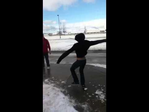 Pinwheeling the snow