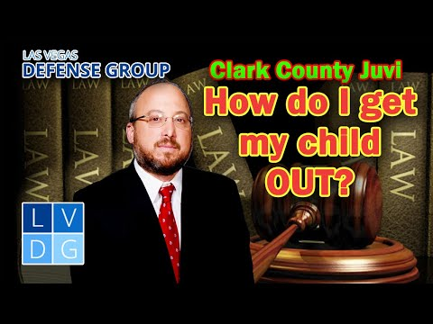 How do I get my child out of Clark County Juvenile Detention Center in Nevada?