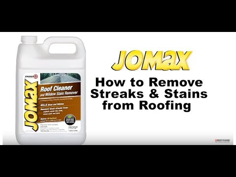 How To Clean Your Roof With Jomax Cleaner