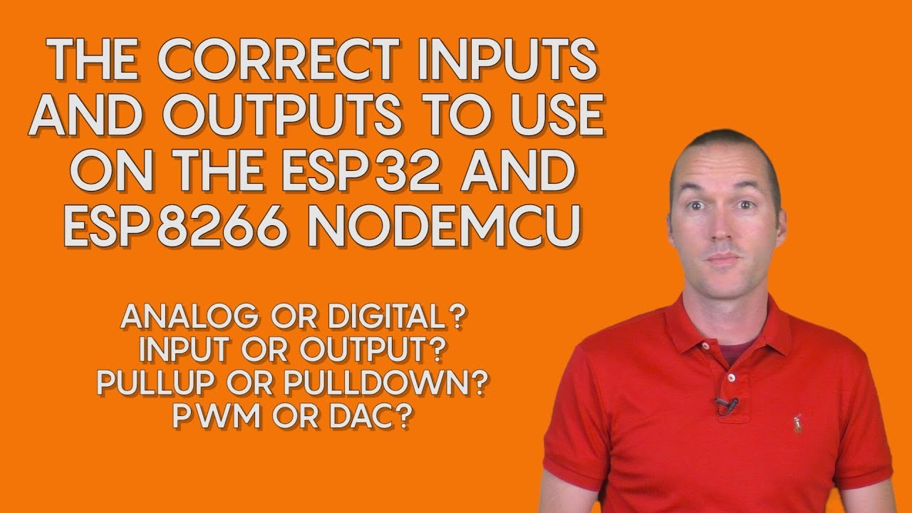 NodeMCU ESP32 and ESP8266 Pin Modes (analog and digital