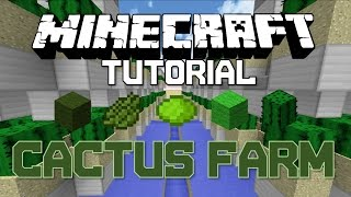 [Minecraft Tutorial] [1.8+] Fully Automatic Industrial Cactus Farm (With Storage)