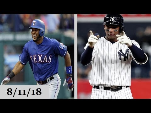 Texas Rangers vs New York Yankees Highlights || August 11, 2018