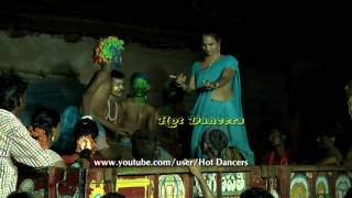 Tamil villagers enjoying tractor stage Midnight Dance show