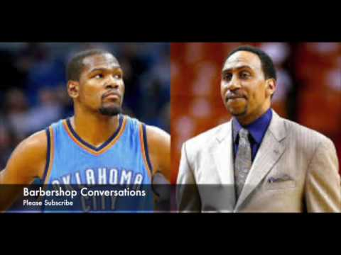 "Stephen A Smith""Leave Kevin Durant DA FUC ALONE""Skip Bayless left U!"
