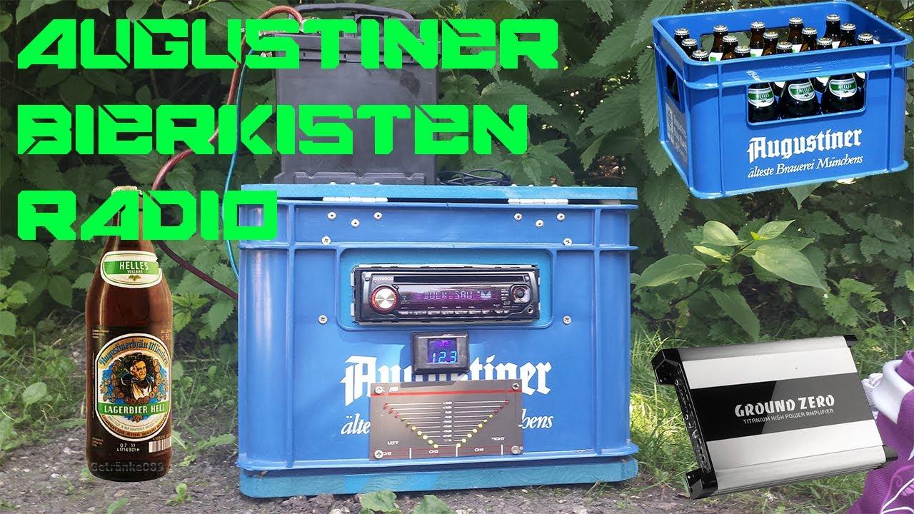 Augustiner Musik Box V1 0 Selbstgebautes Bierkistenradio Youtube