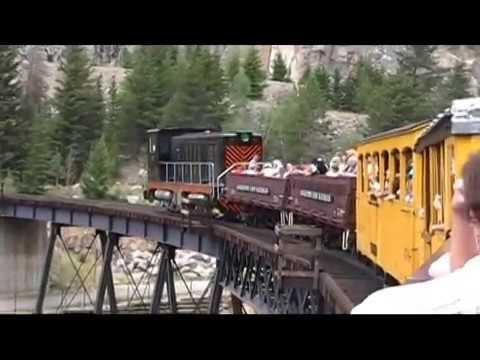 Georgetown Loop Railroad ride behind diesel engine July 2008
