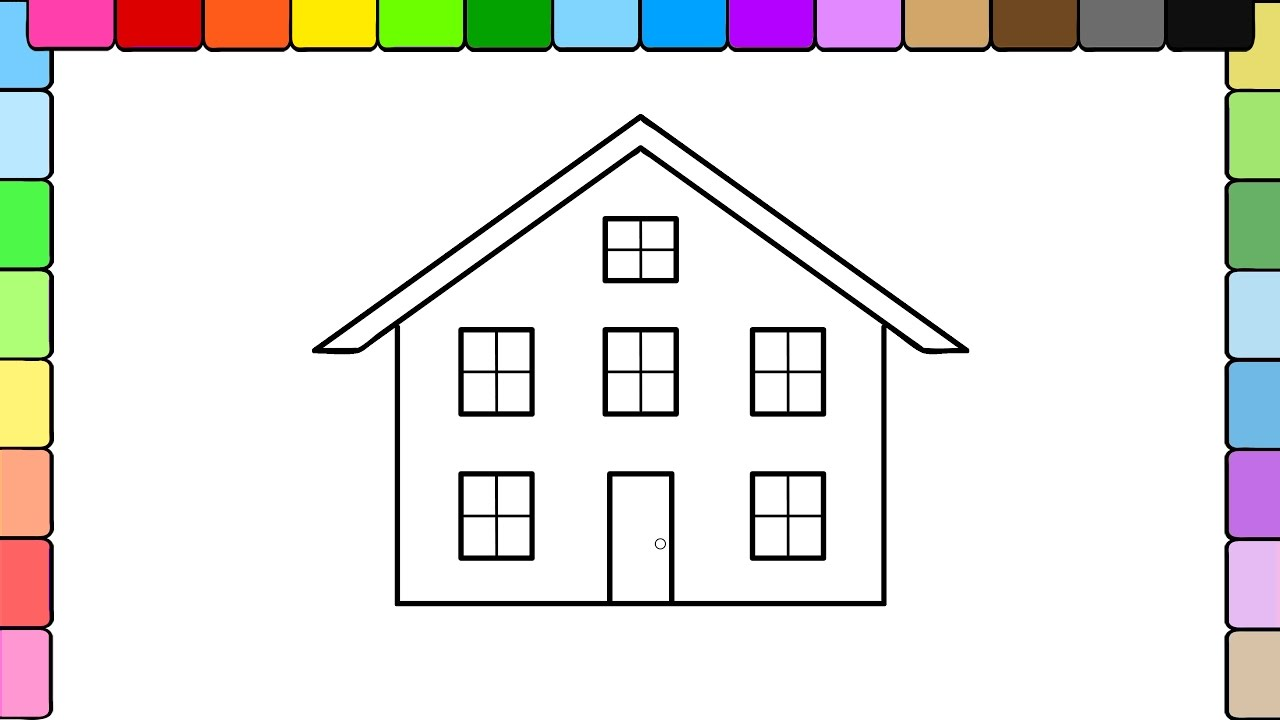 Learn to color for kids and color big house coloring pages