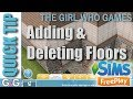 QUICK TIP- The Sims Freeplay: Adding and Deleting Floors