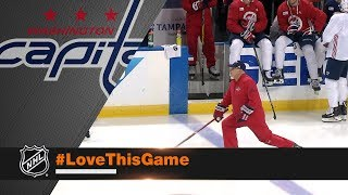 Capitals head coach Barry Trotz takes hot lap to spark team
