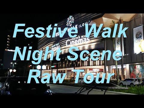 Iloilo City - Festive Walk - Night Scene (Catwalk Tour) - Megaworld - HD