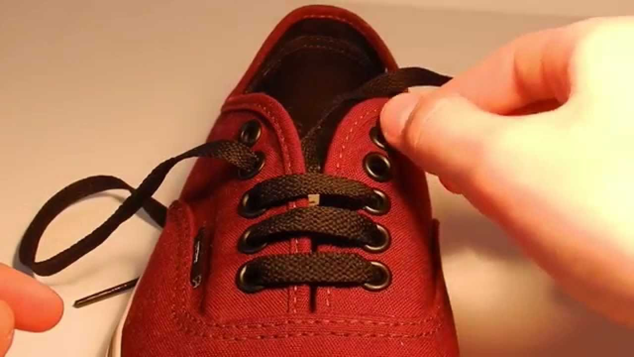 How To Bar Lace Shoes Vans 5 Holes Easiest And Fastest Way You