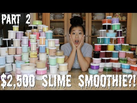 $2,500 FAMOUS SLIME SHOP SLIME SMOOTHIE?! *absolutely insane*