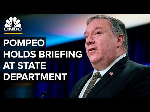 Secretary Mike Pompeo delivers remarks at the State Department — 7/15/2020