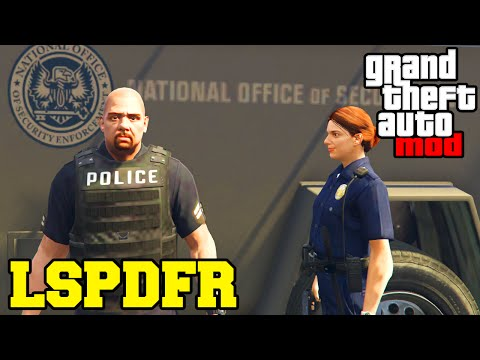 "GTA 5 PC Mods - LSPDFR ""POLICE MOD"" GAMEPLAY! Play As A Cop(GTA V PC Mod)"