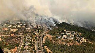 Tűzvész a kaliforniai borvidéken