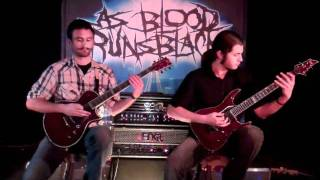 As Blood Runs Black Divided Guitar Demonstration