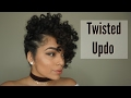 Flat Twist Updo with Curls | Natural Hair