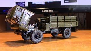 Итог сборки модели грузовика ГАЗ 66 Шишига АВД