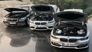 Mini BMW 3 Series 5 Series and 7 Series Diecast Toy Cars