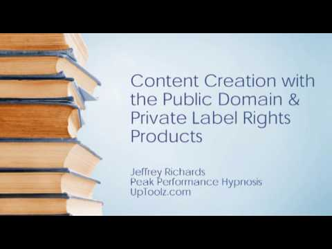 Content Creation with Public Domain and Private Lable Rights Material