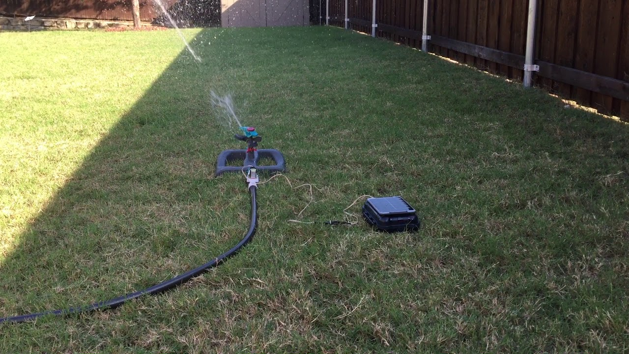 Solar Powered Internet Connected Lawn Sprinkler Project