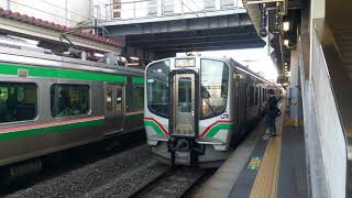 東北本線E721系+701系 郡山発車