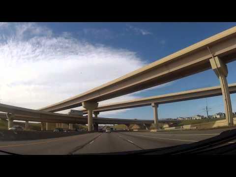 Driving from Denver to Manitou Springs, Colorado I25 I70 I76