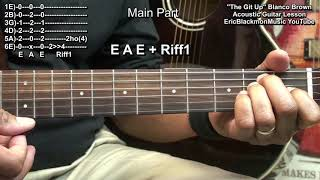 How To Play THE GIT UP  Blanco Brown On Acoustic Guitar