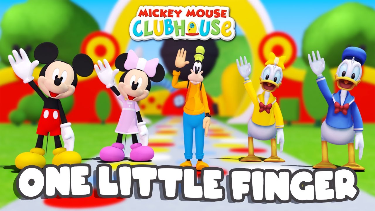 One Little Finger Mickey Mouse Clubhouse | + More Nursery Rhymes Kids Song