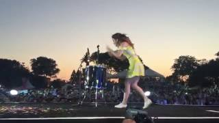 Echosmith singer Sydney Sierota rocks the drums @ Isle of MTV 2015