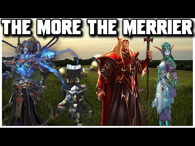 Grubby | WC3 4v4 | The MORE The MERRIER!