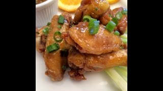Tangy Orange Chicken Wings