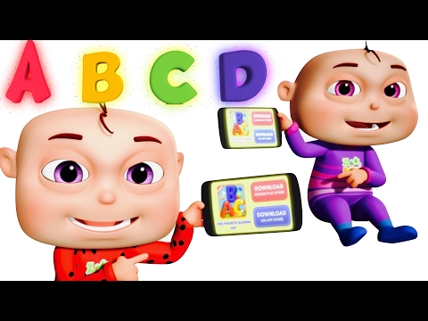Thumbnail: Five Little Babies Learning ABC | Learn Alphabets Fruits Colors Numbers Wild Animals | Zool Babies