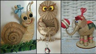 Jute Work New Animals Craft Ideas New & Beautiful.